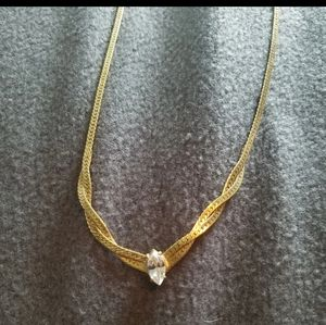 Gold crossed chain
